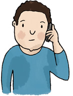 Image: Illustration of teenager on phone