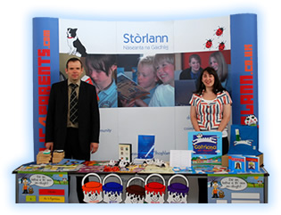 Image : Stòrlann display at GLPS