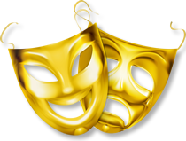 Graphic: Golden Drama Masks
